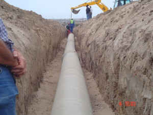 04 - Chatty Extension 12 & 13 - 450mm Dia Bulk Water line - 450mm dia. GRP pipe bedded