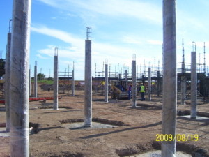 05 - Motherwell Thuson Centre - Wrapped Concrete Columns