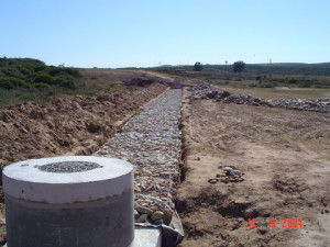 11 - Chatty Extension 12 & 13 - Bulk Sewer - Gabion Protection Over Sewer in Flood Plane Area