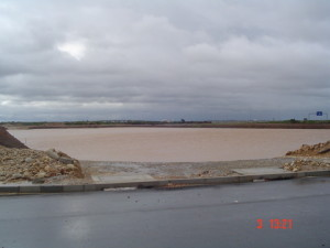 04 - Storm Water for Coega Industrial Zone 2 - Attenuation Pond in Full Working Operation During Floods of August 2006