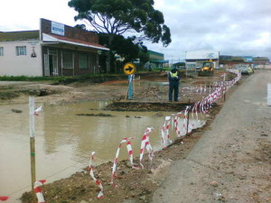 06 - Upgrading of Perl Road - Rainy Weather.JPG