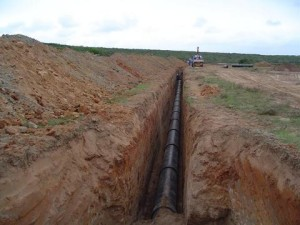 07 - Chatty Extension 12 & 13 - Bulk Sewer - Fibre Cement Sewer Line Installed