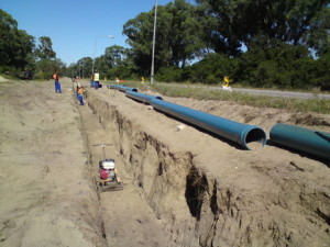 07 - Victoria Drive 315mm Watermain upgrade - Pipelaying