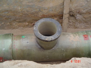 08 - Chatty Extension 12 & 13 - 450mm Dia Bulk Water line - Vertical T-Piece