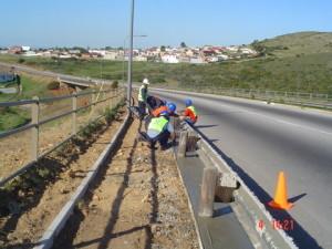 08 - Construction of Asphalt sidewalks - Concrete work