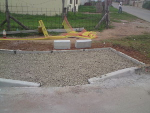 17 - Construction of Asphalt sidewalks - preparation for pedestrian ramp