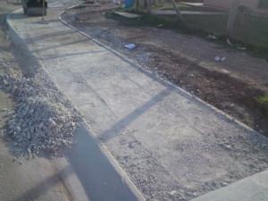 18 - Construction of Asphalt sidewalks - Base preparation