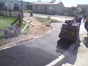 20 - Construction of Asphalt sidewalks - Premix compaction