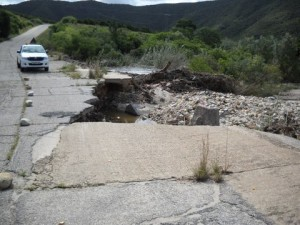 21 - Kouga-Koukamma - Road Failure and Stormwater Structure (Before)