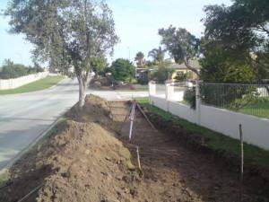 22 - Construction of Asphalt sidewalks - Setting out