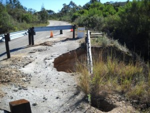 23 - Kouga-Koukamma - Road Failure and Gabion Structure (Before)