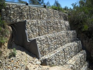 24 - Kouga-Koukamma - Road Failure and Gabion Structure (After)