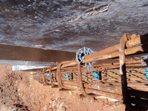 27 - Construction of Standford Road and Bloemendal Arterial - Steel Reinforcement in Wing Wall of Culvert