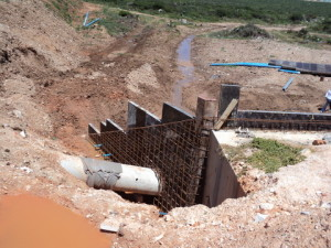 28 - Construction of Standford Road and Bloemendal Arterial - Steel Reinforcement in Wing Wall of Culvert